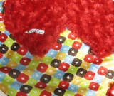 Red /w yellow circle ole satin - 'Lankie - Regular $20