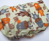 Moose /w chocolate cotton velour soakers - Designer Woven Hidden PUL Ai2