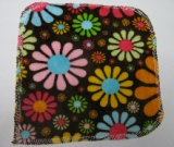Chocolate Flower Child Minky/Velour Wipe