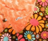 Orange /w Chocolate Flower Child Minky - B�b� (Minky) - Regular $45