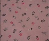 Pink White Greyish Blue Tiny Floral