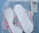 LillyPads Pantyliner Set - Pink Plaid