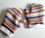 Wool and Cashmere Recycled Adult Mittens