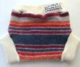 Medium Striped Recycled Wool Soaker