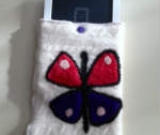 Needle Felted Wool Butterfly E-reader Cover
