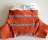 Small-long Orange Striped Recycled Wool Soakers
