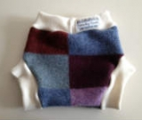 Large Blue, Purple and Maroon Recycled Wool Soaker