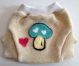 Small Recycled Wool Mushroom Soaker