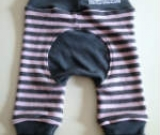 Pink and Grey Stripes Wool Interlock Jecaloones -