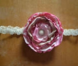 Headband made to match  Well Dressed Wolf Pink Sandy  by Parsons Pretty Pea Boutique