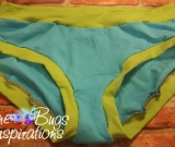 Aqua & Lime Green Scrundies or Bunzies