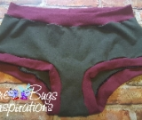 Dark Olive & Burgundy Scrundies or Bunzies