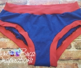 Royal Blue & Red Scrundies or Bunzies