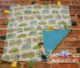 Rescue Vehicle Flannel/blue Baby Blanket