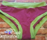 Magenta & Lime Green Scrundies or Bunzies