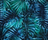 Palm Leaves Brushed Poly 1yd cut