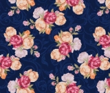 1yd Cut Custom CL Fabric SoM Floral