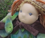 Waldorf Elf Doll 12 or 16 inch Custom with his Lizard Friend