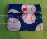 Mini Reusable Snack Baggie in Baseball
