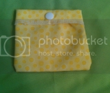 Mini Reusable Snack Baggie in Yellow Bubbles