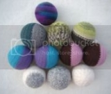 Large Wool Dryer Balls with Hand-knit Cover