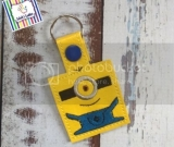One Eyed Minion Vinyl Key Fob