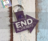 End Alzheimers Vinyl Key Fob