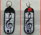 Musical Chapstick Holder Key Chain