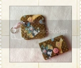 Kitty Print Business Card Holder/Change purse set