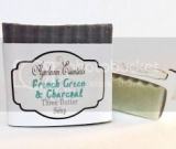 French Green & Charcoal Three Butter Soap