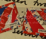 Quilted Mug Rugs!  Red, White, and Blue Soda Pop set of 2