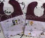 Waterproof Bib - Too Cute in Purple