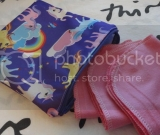 Purple Unicorn Reusable Zippered Snack / Sandwich Sized Bag and 8