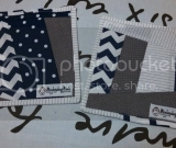 Quilted Mug Rugs!  Navy, Gray, and White set of 2