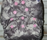 ACU with pink snaps