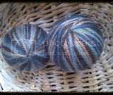 100% Wool Dryer Ball - Blue Colorway Yarn (Set of 2)