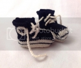 Converse Style Knitted Booties