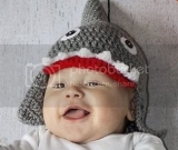 Shark Hat 0-3 month size