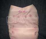 Solid light pink one size pocket diaper