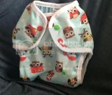 Christmas owls One size diaper cover