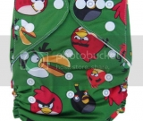 Green Angry Birds Pocket Diaper