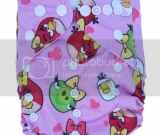 Pink Angry Birds Pocket Diaper