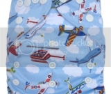 Airplane Pocket Diaper