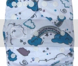 Angry Clouds Pocket Diaper