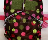 Brown Polka Dots MadiPOO DETACHABLE Original w/mic