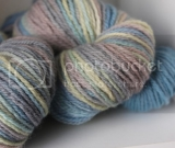Aran Weight BFL - Little Boy Blue -2 skeins colorway + 1 mini skein of trim