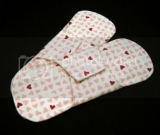 Organic Cotton Flannel Pantyliners - Two Reusable Mini Pads