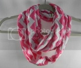 Perfect Pink & White Chevron Infinity Scarf