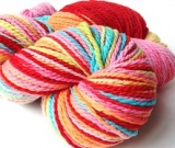 'Saltwater Taffy' on Mountain Meadow Merino wool