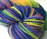 'Cosmic Madras' on Mountain Meadow Merino wool